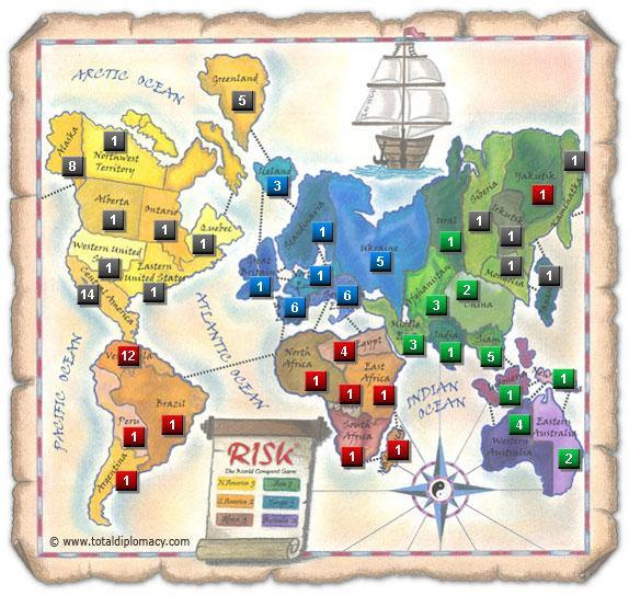 Total Diplomacy Risk Map: Risk-Club-1