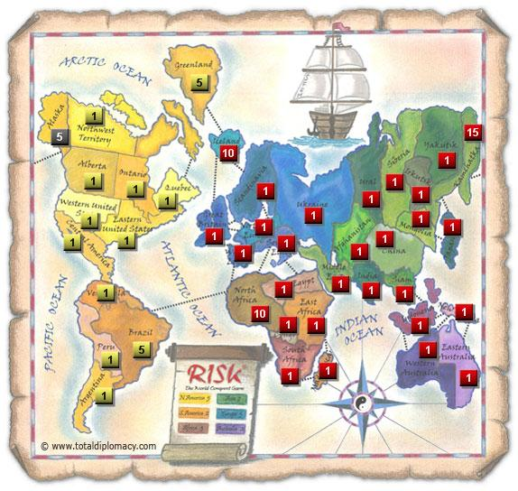 Total Diplomacy Risk Map: Game-Night