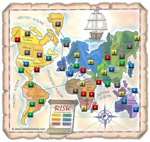 Total Diplomacy Risk Map: Nailing-G