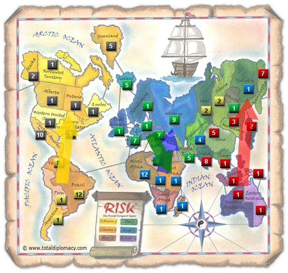 Total Diplomacy Risk Map: Stratton-1