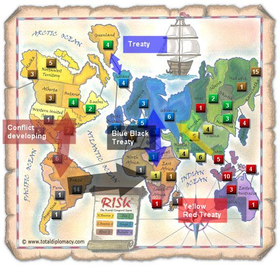Total Diplomacy Risk Map: ResponceToFriendsThaksgiving