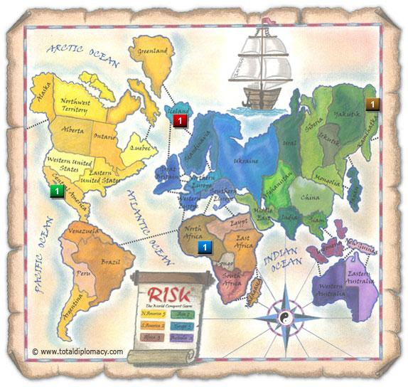 Total Diplomacy Risk Map: Scattered-Sight