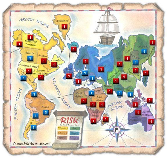Total Diplomacy Risk Map: 1v1