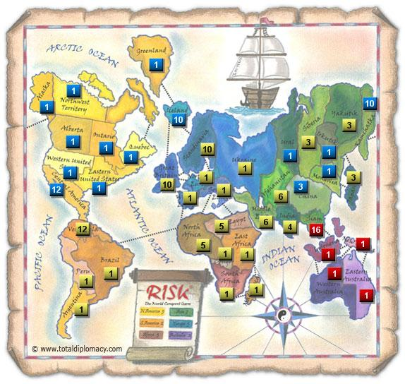 Total Diplomacy Risk Map: Grand-Strategy-Game