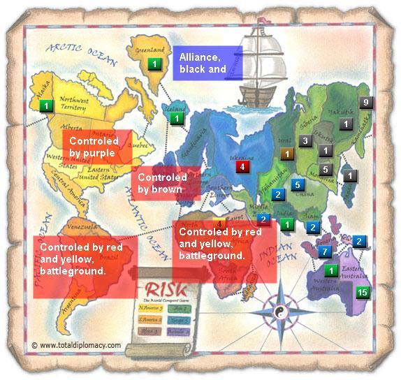 Total Diplomacy Risk Map: Team-map
