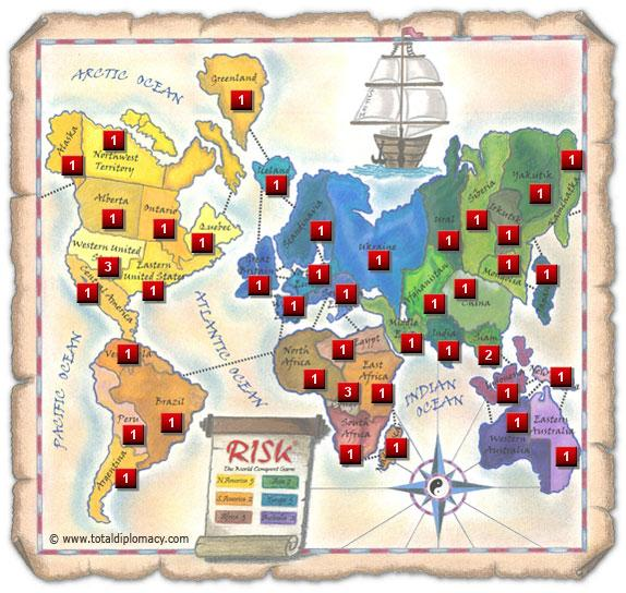Total Diplomacy - Initial Risk Game Strategy 10