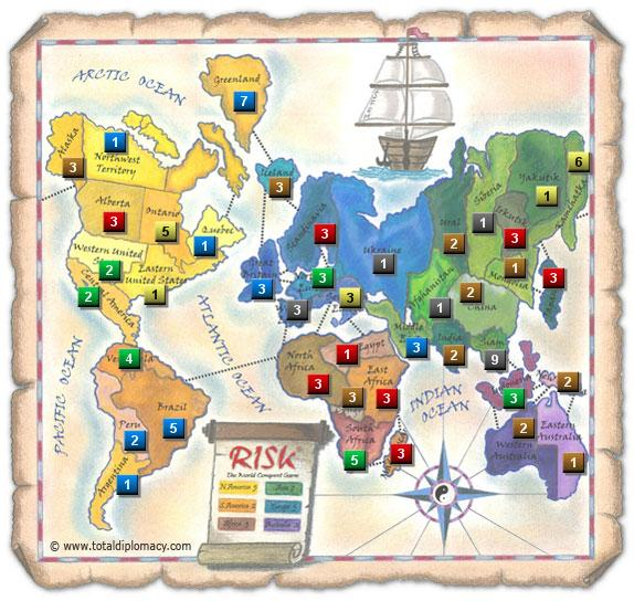 Total Diplomacy - Initial Risk Game Strategy 2