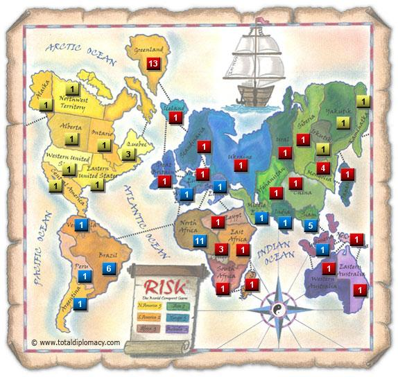 Total Diplomacy - Initial Risk Game Strategy 9