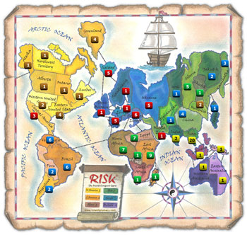Risk Game Scenario 7: Revenge Position A