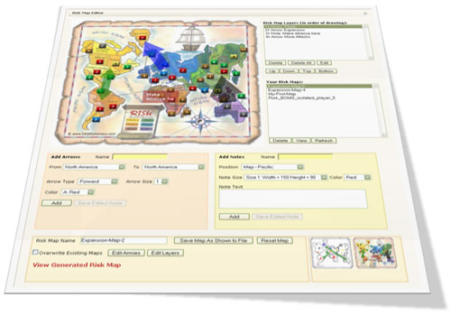 Risk Map Editor - Screenshot